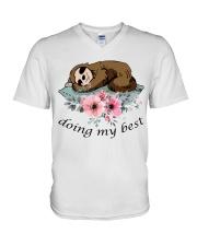 Doing My Best V-Neck T-Shirt thumbnail
