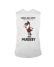 Horses And Coffee Sleeveless Tee tile