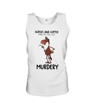 Horses And Coffee Unisex Tank thumbnail