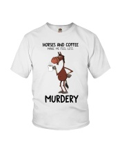 Horses And Coffee Youth T-Shirt thumbnail