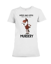 Horses And Coffee Premium Fit Ladies Tee thumbnail