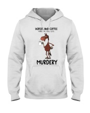 Horses And Coffee Hooded Sweatshirt thumbnail