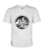 Faith Can Move Mountains V-Neck T-Shirt thumbnail