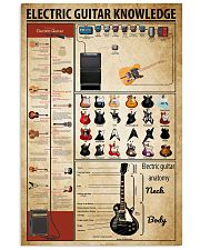 Electric Guitar Knowledge 11x17 Poster front