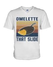 Omelette That Slide V-Neck T-Shirt thumbnail