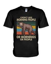 I Dont Like Morning People V-Neck T-Shirt thumbnail