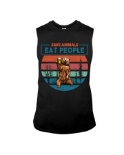Save Animals Eat People Sleeveless Tee thumbnail