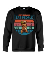 Save Animals Eat People Crewneck Sweatshirt thumbnail
