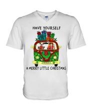 Merry Little Christmas V-Neck T-Shirt thumbnail
