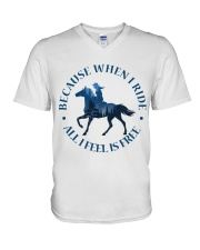 All I Feels Is Freedom V-Neck T-Shirt thumbnail