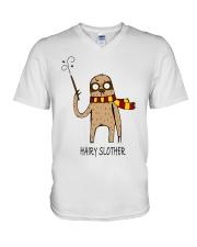 Hairy Slother V-Neck T-Shirt thumbnail