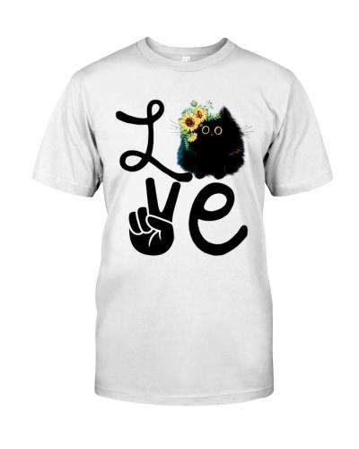 Cat Love Flowers