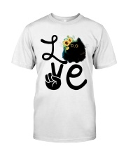 Cat Love Flowers Classic T-Shirt front