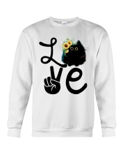 Cat Love Flowers Crewneck Sweatshirt thumbnail