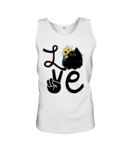 Cat Love Flowers Unisex Tank tile