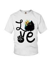 Cat Love Flowers Youth T-Shirt thumbnail