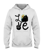 Cat Love Flowers Hooded Sweatshirt thumbnail