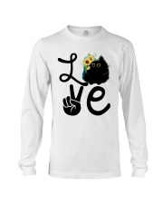 Cat Love Flowers Long Sleeve Tee tile