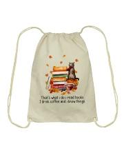 I Read Books Drawstring Bag thumbnail