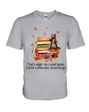 I Read Books V-Neck T-Shirt thumbnail
