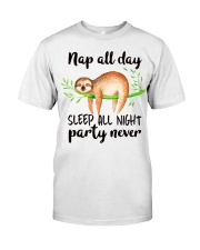 Nap All Day Classic T-Shirt front