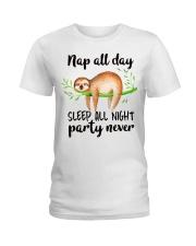 Nap All Day Ladies T-Shirt thumbnail