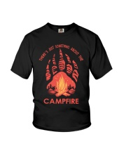 Something About The Campfire Youth T-Shirt thumbnail