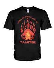 Something About The Campfire V-Neck T-Shirt thumbnail