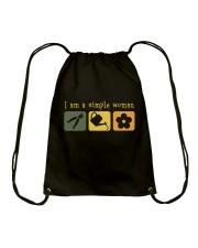 I Am A Simple Woman Drawstring Bag thumbnail
