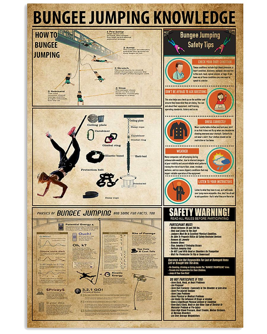 Bungee Jumping Knowledge 11x17 Poster