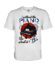 Without The Piano V-Neck T-Shirt thumbnail
