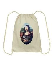 Mona Lisa Painting Drawstring Bag thumbnail
