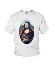 Mona Lisa Painting Youth T-Shirt thumbnail