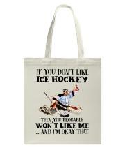 Ice Hockey Tote Bag thumbnail