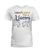 I Dont Care Ladies T-Shirt thumbnail