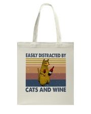 Cats And Wine Tote Bag thumbnail