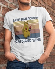 Cats And Wine Classic T-Shirt apparel-classic-tshirt-lifestyle-26