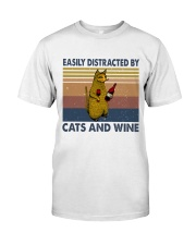 Cats And Wine Classic T-Shirt front