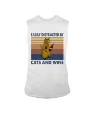 Cats And Wine Sleeveless Tee thumbnail