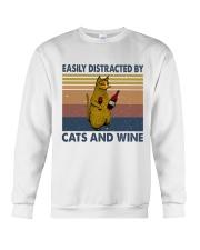 Cats And Wine Crewneck Sweatshirt thumbnail