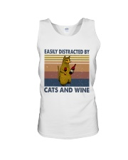Cats And Wine Unisex Tank thumbnail