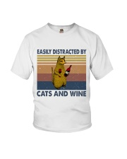 Cats And Wine Youth T-Shirt thumbnail
