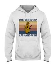 Cats And Wine Hooded Sweatshirt thumbnail