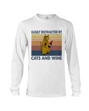 Cats And Wine Long Sleeve Tee thumbnail