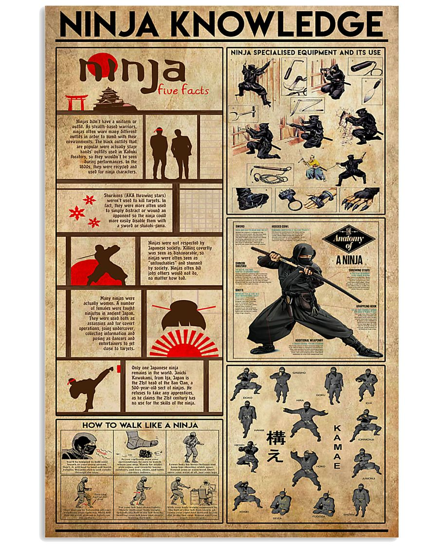 Ninja Knowledge 11x17 Poster