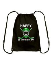 Happy St Hat Trick's Day Drawstring Bag thumbnail