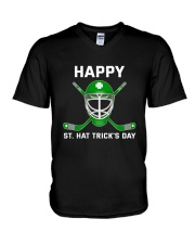 Happy St Hat Trick's Day V-Neck T-Shirt thumbnail
