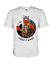 I Do What I Want V-Neck T-Shirt thumbnail