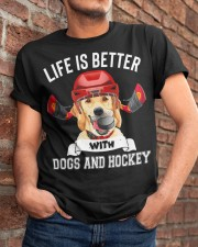 Dogs And Hockey Classic T-Shirt apparel-classic-tshirt-lifestyle-26