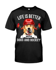 Dogs And Hockey Premium Fit Mens Tee thumbnail